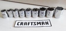 Craftsman 9 pc. 6 pt. 3/8 in. Dr Metric Socket Set 10-18mm NEW