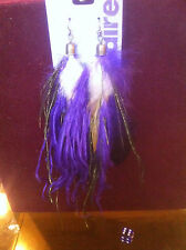 Claire's Claires Accessories Official Earrings Purple Feather £8 RRP