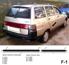 Seitenschutzleisten schwarz für Lada 111 Kombi 5-Türer Baujahre 1995-2008