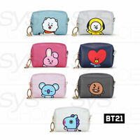 BTS BT21 Official Authentic Goods PU Square Pouch Small 90x60x35mm + Tracking Nu