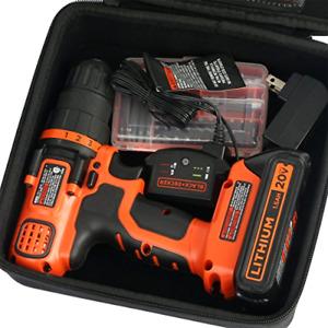 Travel Hard Case for BLACK+DECKER LDX120C 20-Volt MAX Cordless Drill - Only Bag