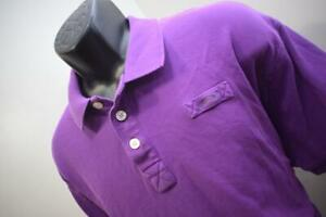 ORVIS Fishing Purple Short Sleeve Rugby Golf Polo Shirt Mens Size XL