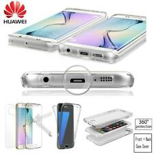 360 ° antiurto in silicone anteriore + posteriore dura per Huawei P20 Mate 20 P30 PR0 Y6 Y7