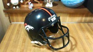 Franklin Denver Broncos  Plastic Football Helmet,no contact,adult,NFL,gd!