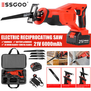 Cordless Powerful Reciprocating Saw 21V Electric Wood Metal Cutting Hand Held