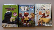 Elmo's World Cookie Monster Sesame Street Mixed DVDs Lot of 3