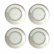 LED 12V 24V Chrome Spot Lights Ceiling Lamp Caravan Motorhome Boat 4x Downlights