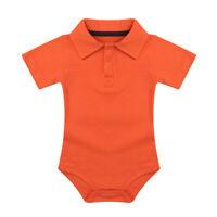 New Baby Boys Infant Romper Lapel Collared Shirt Bodysuit Jumpsuit Cotton Outfit