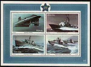 South Africa 1982 The 25th Anniv of Simonstown as S.A Naval Base Minisheet - MUH