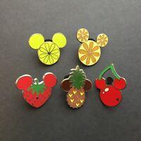 WDW - Hidden Mickey 2007 Series 2 - Fruits - 5 Pins Disney Pin 56894