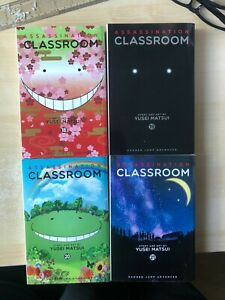 "ASSASSINATION CLASSROOM Manga graphic novels Volumes 18,19,20,21 ""like new"""