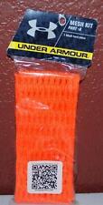 New Under Armour Mesh Kit Hard Piece Part A- Orange Team Sports Lacrosse ~121~