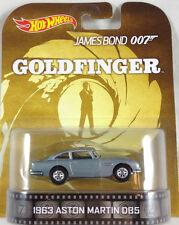1/64 Hot Wheels Retro James Bond Goldfinger 007 1963 Aston Martin DB5