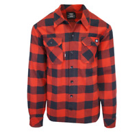 Dickies Men's Red & Black Box Plaid Sacramento L/S Flannel Shirt (S06)