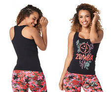 Zumba  Z Army Racerback Tank Top - Bold Black ~ All Sizes! Free Shipping!