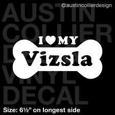 "6.5"" VIZSLA vinyl decal car window laptop sticker - dog breed rescue"