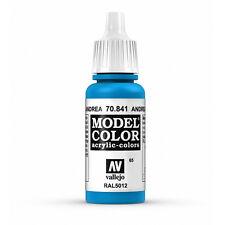 Vallejo Model Color: Andrea Blue - VAL70841 Acrylic Paint 17ml Bottle 065