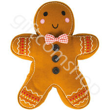 Sass & Belle Gingerbread Man Cushion Inner Christmas Home Decoration Xmas Gift