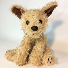 "Ty Toffee Terrier Puppy Dog Plush Brown Shaggy Bean 1997 Stuffed Animal Mutt 10"""