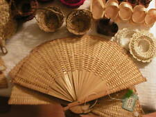 "16"" Large, 7"" Small Rattan/Bamboo Woven Fans/Wreathes for Arts/Crafts Projects"