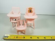 Vintage Renwal Plastic Dollhouse Furniture lot of 3 - High Chair / chair