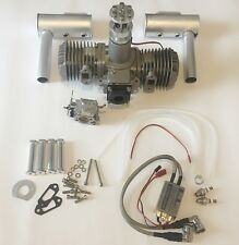 BNIB BH100cc Gasoline Engine w/Electronic Ignition&mufflers for RC Airplane
