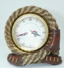 Rope Clock Figurine - NIB - Country Collectible