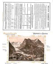 CHEMINS DE FER DE L'EST BROCHURE VOYAGES EN SUISSE 1913