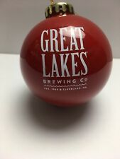 Great Lakes Brewing Co. - Red w/Snowflake plastic Ornament - Brewery Beer Promo