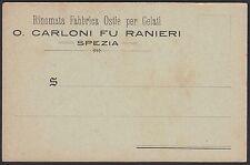 AA5034 Ostie per Gelati O. Carloni fu Ranieri - Spezia - Cartolina pubblicitaria