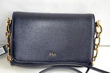 Lauren Ralph Lauren Newbury Carmen Black Leather Crossbody MSRP$168.00NWT