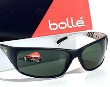 NEW* Bolle RECOIL Matte Black w White POLARIZED Grey Green Sunglass 11808
