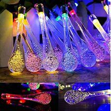 Goodia Multi Color 4.8M 20 LED Carámbano Luz Solar Powered gota de lluvia cadena de jardín