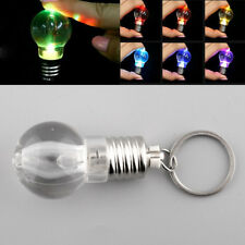 Creative LED Flash Lights Mini Bulb Keyring Xmas Design Keychain Keyring Lamp