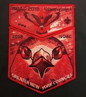 KINTECOYING OA LODGE 4 BSA GREATER NEW YORK 2018 NOAC RED GHOST DELEGATE 2-PATCH