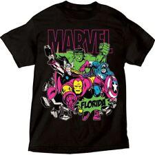 Adult T-Shirt Marvel Avengers Group Captain America Thor Hulk (Florida)