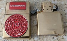 More details for original zippo brass lighter - customised for a liverpool football team theme