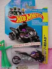 Case D 2014 i Team Hot Wheels STREET NOZ motorcycle #130∞Purple/Black∞Off-Road