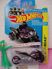 Case D 2014 i Team Hot Wheels STREET NOZ motorcycle #130∞Purple/Black∞Off-Road