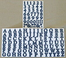 Creative Memories Alphabet Letter ABC and number 123 stickers - Deep Blue