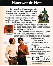 PUBLICITE ADVERTISING  1974   HOM  slip sous vetements  pulls  HOMOVER