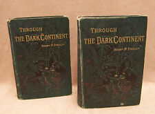 RARE Antique Books Through the Dark Continent by Henry M Stanley Vol 1 & 2 1879