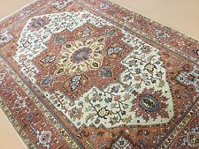 """Persian Oriental Area Rug Serapi Hand Knotted Wool Beige Rust 6'.0"""" X 9'.0"""""""