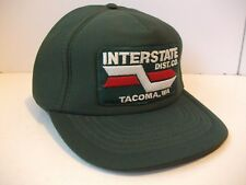Interstate Dist Co Tacoma Wa Patch Hat Vintage Green Snapback Baseball Cap