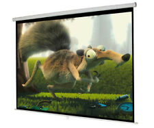 """New 119"""" Manual Pull Down Projector Screen 84""""X84"""" Projection Home Movie Theater"""