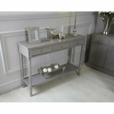 House Additions Medium Console Table with 3 Drawers, Taupe