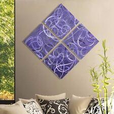 Statements2000 3D Metal Wall Art Accent Modern Purple Silver Painting Jon Allen