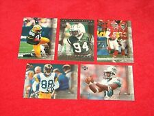 2000 UPPER DECK FOOTBALL 5 DIFF UD EXCLUSIVES SILVER PARALLEL CARDS /100 (18-33)