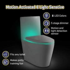Toilet Night Light 8 Color LED Motion Activated Sensor Bathroom Seat Lamp