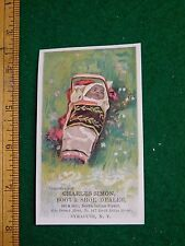1870s-80s Charles Simon Boot Shoe Dealer Native American Baby Trade Card F33